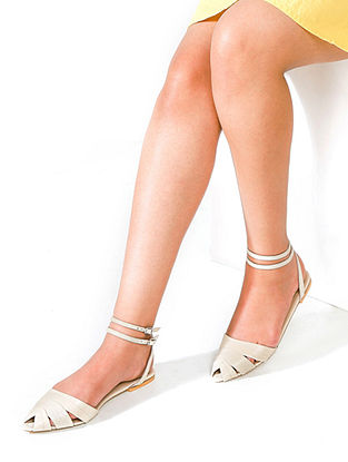 Ivory Handcrafted Leather Sandals