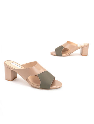 Olive Nude Soft Handcrafted Leather Heels