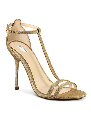 Gold Handcrafted Leather Heels