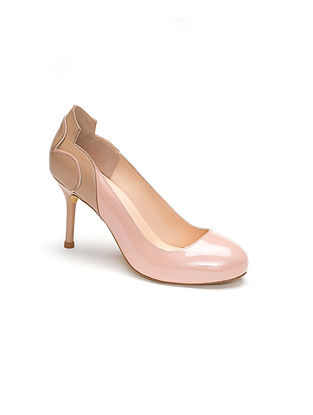Pink Nude Handcrafted Patent and Soft leather Heels