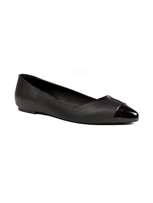 Black Handcrafted Genuine Leather Shoes