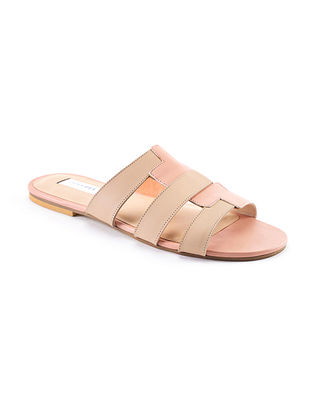 Nude Pink Handcrafted Genuine Leather Flats