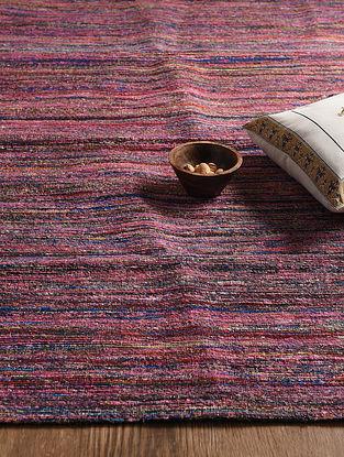 Multicolored Hand Woven Sari Silk and Cotton Kilim Dhurrie