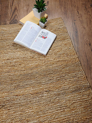 Hand Woven Jute Sumaik Dhurrie (3ft.3in x 1ft.11in)