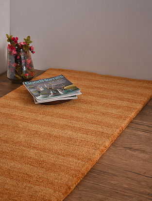 Golden Hand Loom Wool and Cotton Carpet (4ft x 2ft 3in)