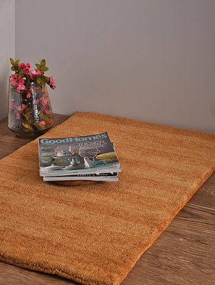 Golden Hand Loom Wool and Cotton Carpet (2ft 10in x 2ft)