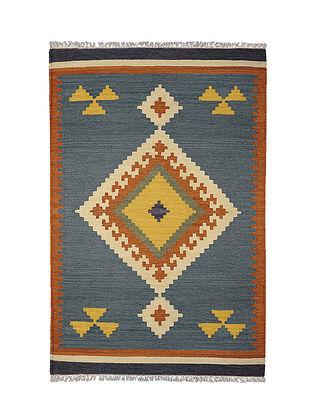 Blue-Multicolor Handmade Wool Kilim Rug