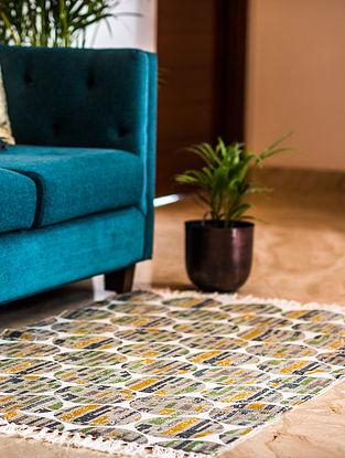 Morocco Multicolor Cotton Rug (63in x 35in)