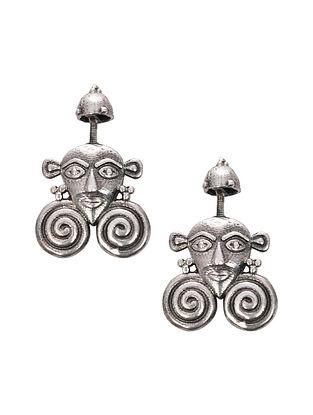 Tribal Silver Bugadi Earrings