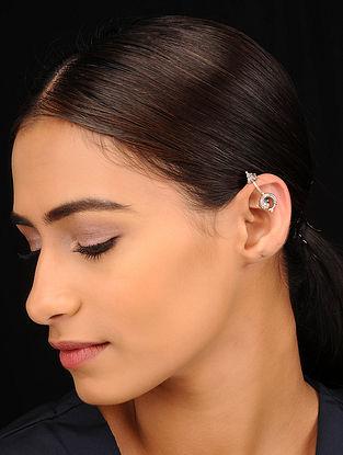 Tribal Silver Bugadi Clip On Earrings