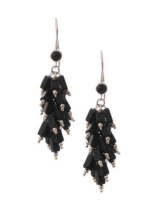 Silver Earrings with Onyx
