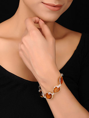 Silver Bracelet with Citrine