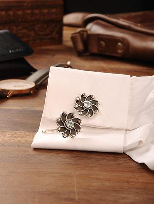 Blue Topaz Handcrafted Silver Cufflinks