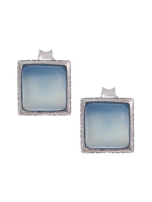Silver Earrings with Chalcedony