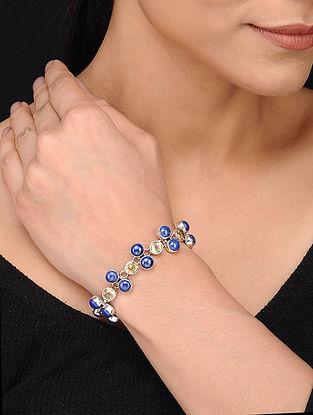 Silver Bracelet Lapis Lazuli and Citrine