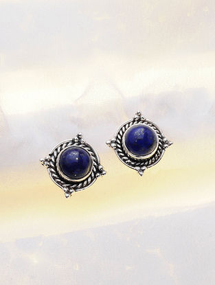 Silver Earrings with Lapis Lazuli
