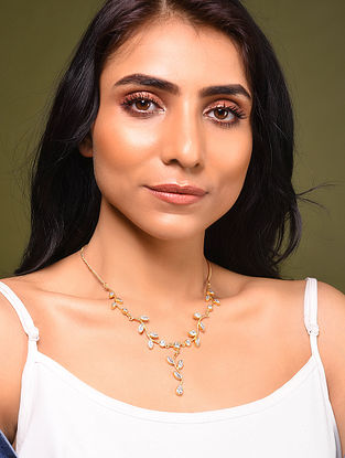 Gold Tone Silver Necklace