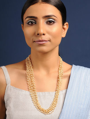 Gold Tone Pearl Beaded Necklace