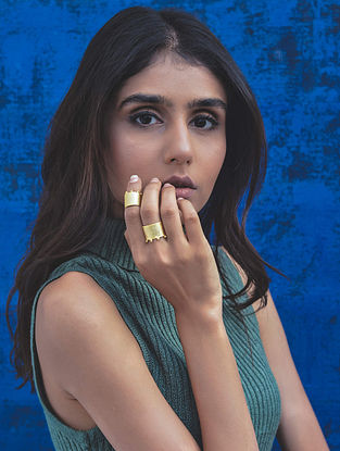 Dull Gold Handcrafted Brass Ring