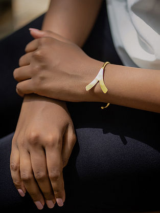 Dull Gold Handcrafted Brass Cuff