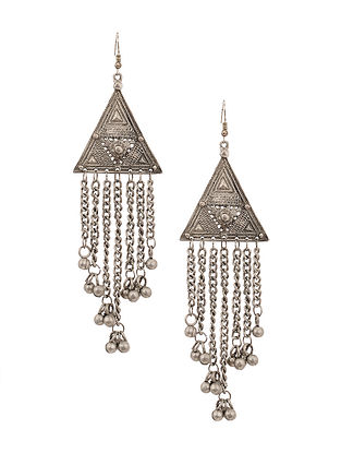 Tribal Silver Tone Earrings