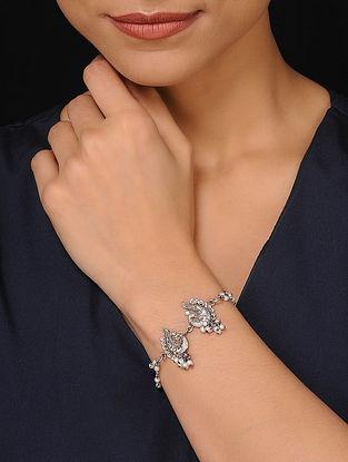 Silver Tone Pearl Beaded Bracelet