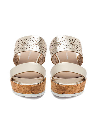 Gold Handcrafted Leather Platform