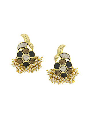Brown Gold Plated Handcrafted Earrings