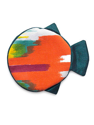Orange-Maroon Fish Shaped Cotton Earphone Case