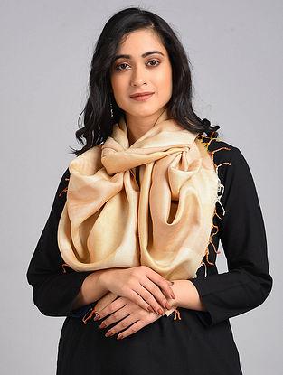 Peach Handwoven Tussar Silk Stole