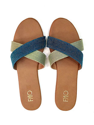 Blue-Green Handcrafted Flats