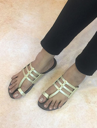 Gold-Brown Handcrafted Flats