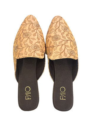 Yellow-Gold Handcrafted Mules