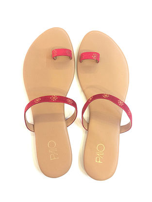 Red-Gold Handcrafted Flats