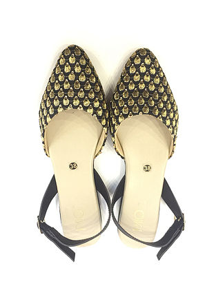 Black-Gold Handcrafted Sandals