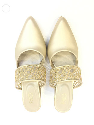 Gold Handcrafted Mules