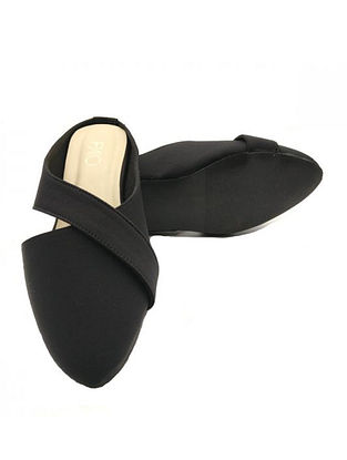 Black Handcrafted Mules