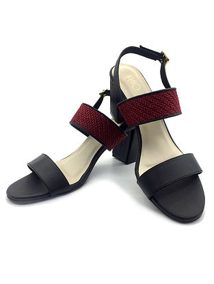 Black-Red Handcrafted Heels
