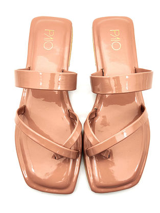 Peach Handcrafted Vegan Leather Flats