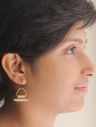 Gold Tone Paper Earrings