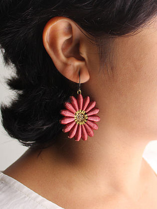 Rosy Brown Paper Earrings