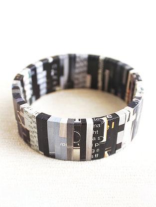 Black-White Newspaper Bracelet