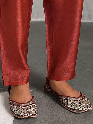 Rust Silk Cotton Pants