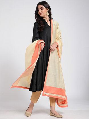 Beige Silk Cotton Dupatta