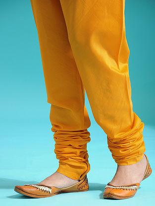 Yellow Elaticated-waist Handloom Silk Cotton Churidar