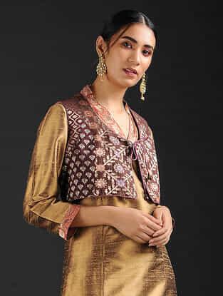Multicolor Vintage Benarasi Silk Brocade Gilet