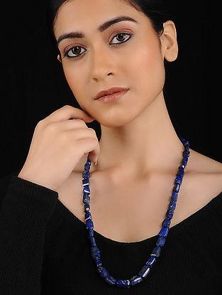 Blue Lapis Lazuli Beaded Necklace