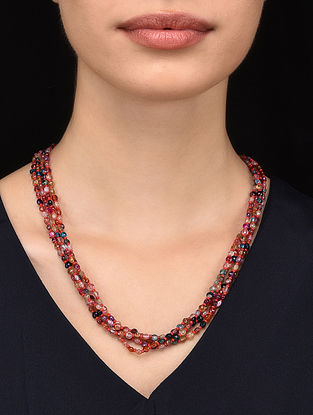 Multicolored Agate Beaded Necklace