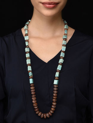 Quartz and Amazonite Beaded Necklace
