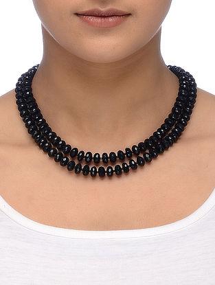 Black Tourmaline Multi-String Necklace